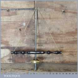 Beautiful Antique Jeweller's Ebony Brass Bow Drill - Smooth Action