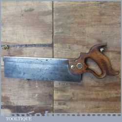 """Vintage Henry Disston & Sons USA 10"""" Steel Back Tenon Saw 14 TPI - Sharpened"""