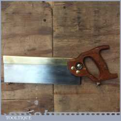 """Vintage Tyzack And Turner 10"""" Brass Back Tenon Saw 12 TPI - Sharpened"""