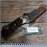 Unusual Antique Infill Block Plane with Brass Buckle Cap Similar to Rare Stanley