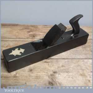 Unusual Brass Inlaid Vintage GWR 4068 Railway Ebonised Jack Plane Pharoah Iron