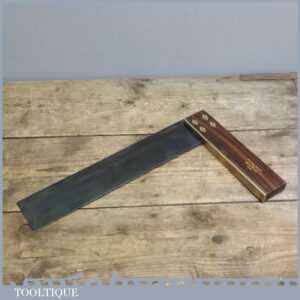 Very Good Vintage Marples Rosewood & Brass 12 Square