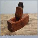 Vintage Beech Wood Toothing Plane - Woodworking Tool