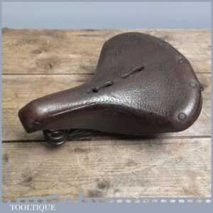 Vintage Brown leather Ladies Sprung Bicycle Saddle