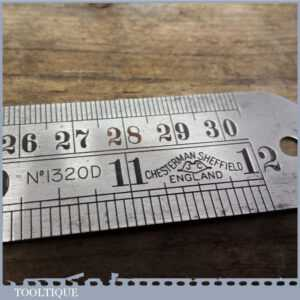 Vintage Chesterman Sheffield 12 Steel Expansion Ruler No 1320d