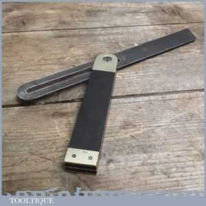 Vintage Ebony and Brass Bevel