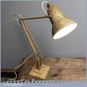 Vintage George Carwardine Industrial Anglepoise 1227 Lamp by Herbert Terry