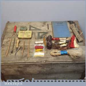 Vintage Leatherworking Tools, Book, Thread, Rivets & Bits