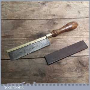 Vintage Marples Gents Brass Back Dovetail Saw & Cover