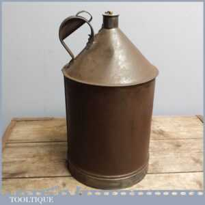 Vintage Railway Kerosene, Parafin Oil Can with Original Brass Stopper