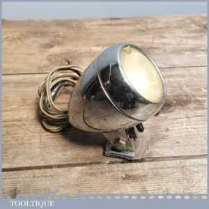 Vintage STURMEY ARCHER Bicycle Dynamo Front LightLamp with Wiring & Clamp