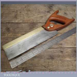 Vintage Spear and Jackson Brass Back Tenon Saw - 10 Long - 10 tpi