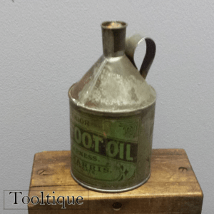 Rare Early S. H Harris Vintage Old Neatsfoot Oil Can