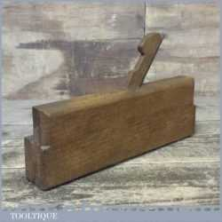 Antique W Dibb Of York c1845-60 Quirk Ovolo & Astragal Moulding Plane Marked No: 3