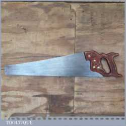 "Vintage 21 ½"" Sandvik Cross Cut Panel Hand Saw 10 TPI - Sharpened"