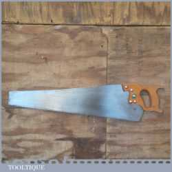 "Vintage 24"" H.H. Swann & Sons Cross Cut Hand Saw 7 TPI - Freshly Refurbished"