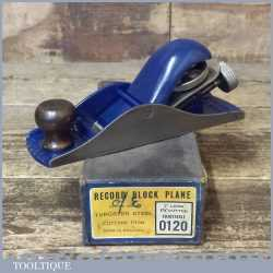 Vintage Boxed Record No: 120 Adjustable Block Plane - Fully Refurbished